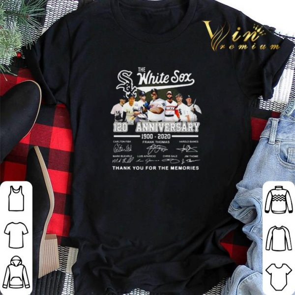 The Chicago White Sox 120th Anniversary 1990 2020 Thank You For The Memories Signatures shirt sweater