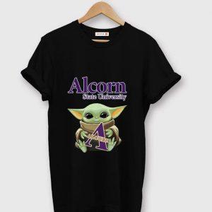 Top Baby Yoda Hug Alcorn State University shirt