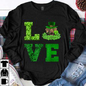 Top Cute Love Weimaraner St. Patricks Day Dog Dad Mom Gift shirt