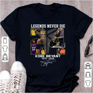 Top Legends Never Die Kobe Bryant's 1978 – 2020 Signatures shirt