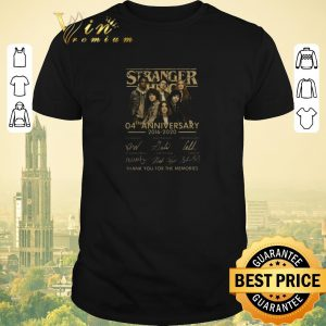 Top Stranger Things 04th anniversary 2016-2020 signatures thank you for the memories shirt sweater