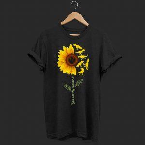 Dinosaurs sunflower you are my sunshine shirt