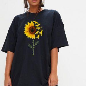 Dinosaurs sunflower you are my sunshine shirt 2