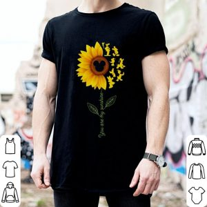 Goofy sunflower you are my sunshine Mickey mouse head shirt