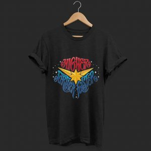 Marvel Captain Marvel Higher Further Faster Star shirt