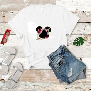 Rose Flowers Floral Minnie Mouse Disney Mickey Mouse shirt
