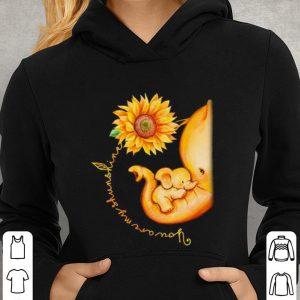 Sunflower Elephant Mom You Are My Sunshine shirt 2