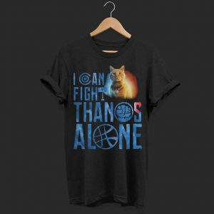 Cat Goose I can fight Thanos alone ladies shirt