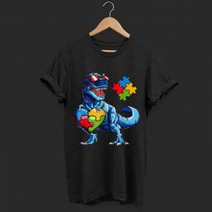 Dinosaur Puzzle Piece Autism Awareness shirt
