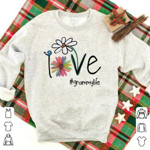 Grammy Life Bird Flower Love shirt