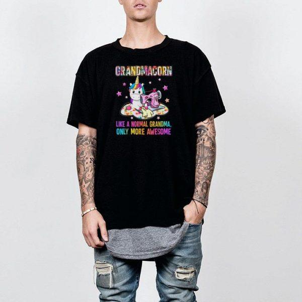 Grandmacorn Like A Normal Grandma Sewing Unicorn shirt