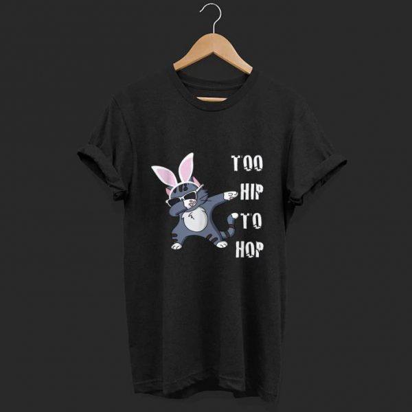 Hip Hop Easter Dabbing Cat Bunny shirt
