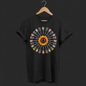 Hippie guitar sunflower shirt