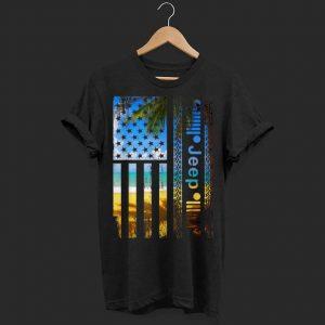 Jeep American Flag Summer Beach shirt