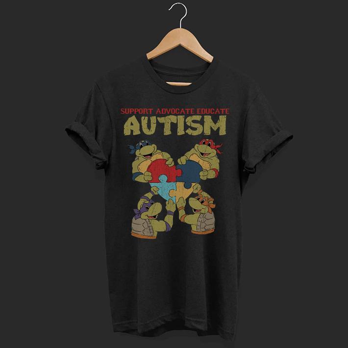 7f3c731b6450 Ninja Turtle support advocate educate Autism shirt, hoodie, sweater ...