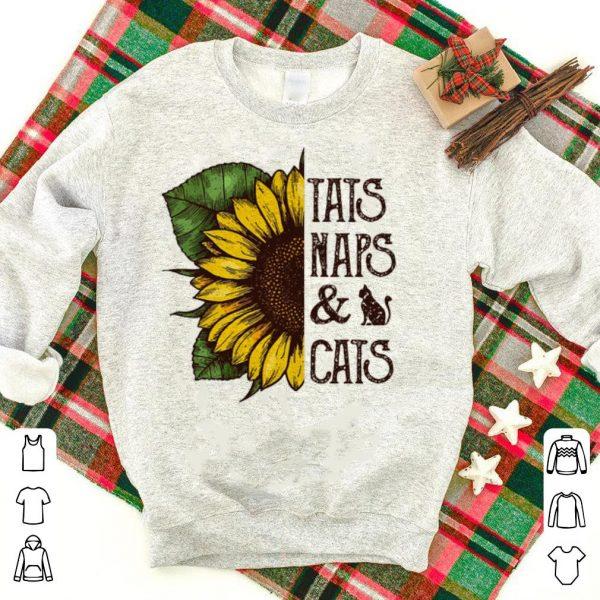 Sunflower Tats Naps And Cats shirt