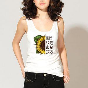 Sunflower Tats Naps And Cats shirt 2