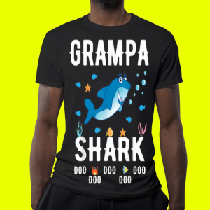 Father Day Grampa Shark Doo Doo Doo shirt 3