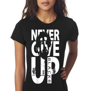 Liverpool FC Never Give up mohamed salah shirt 2