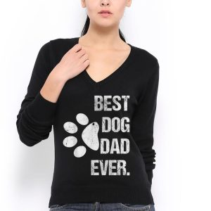 Best Dog Dad Ever Vintage Fathers Day shirt 2