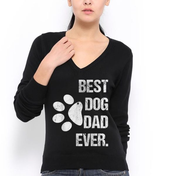 Best Dog Dad Ever Vintage Fathers Day shirt