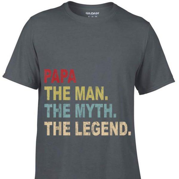 Father's Day Papa Man Myth Legend Vintage shirt