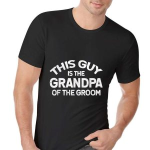 Grandpa Of The Groom Cool Fathers Day shirt