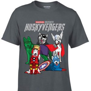 Huskyvengers dog Marvel shirt