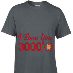 Marvel Avengers Endgame Iron Man Helmet I Love You 3000 Red Logo shirt