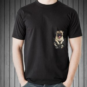 Pug in pocket shirt