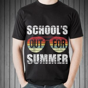 Retro Last Day Of Schools Out For Summer Teacher Sunset Sunglass shirt
