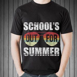 Retro Last Day Of Schools Out For Summer Teacher Sunset Sunglass shirt 1