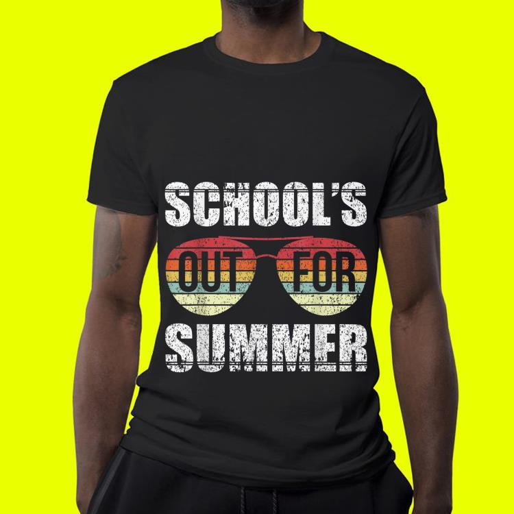 Retro Last Day Of Schools Out For Summer Teacher Sunset Sunglass shirt 4 - Retro Last Day Of Schools Out For Summer Teacher Sunset Sunglass shirt