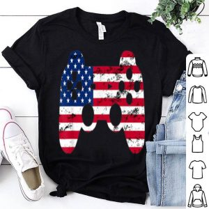 4th Of July American Flag Gamer Video Game shirt