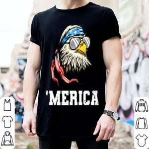 4th Of July Bald Eagle Merica American Flag shirt