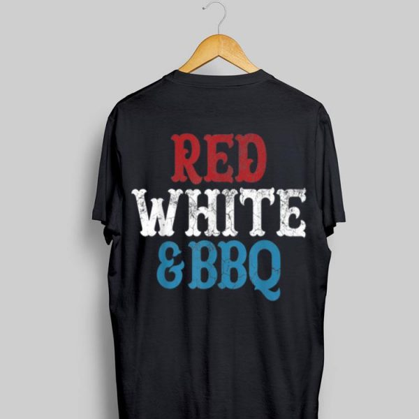 4th Of July Fourth Vintage Retro Usa Red White Bbq shirt