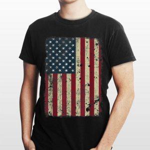 4th Of July Retro Vintage American Flag Patriotic shirt