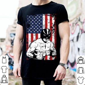 4th of July American Flag Luchador Wrestling shirt