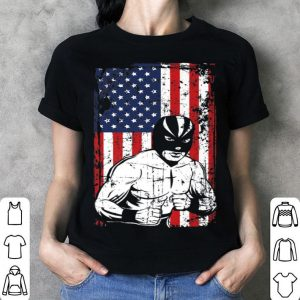 4th of July American Flag Luchador Wrestling shirt