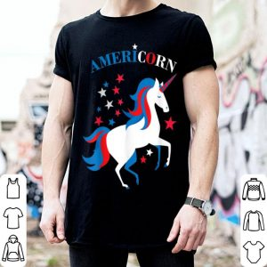 4th of July American Flag Unicorn Americorn shirt