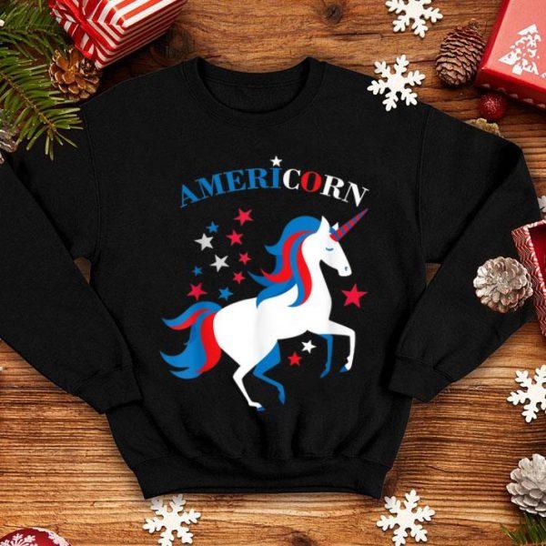 4th of July American Flag Unicorn Americorn shirt