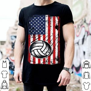 4th of July American Flag Volleyball Bump Set Spike shirt