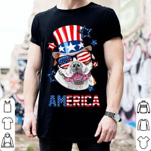 American Bulldog 4th of July USA Flag shirt