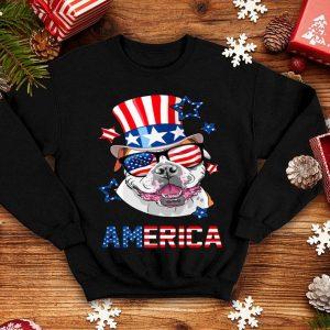 American Bulldog 4th of July USA Flag shirt