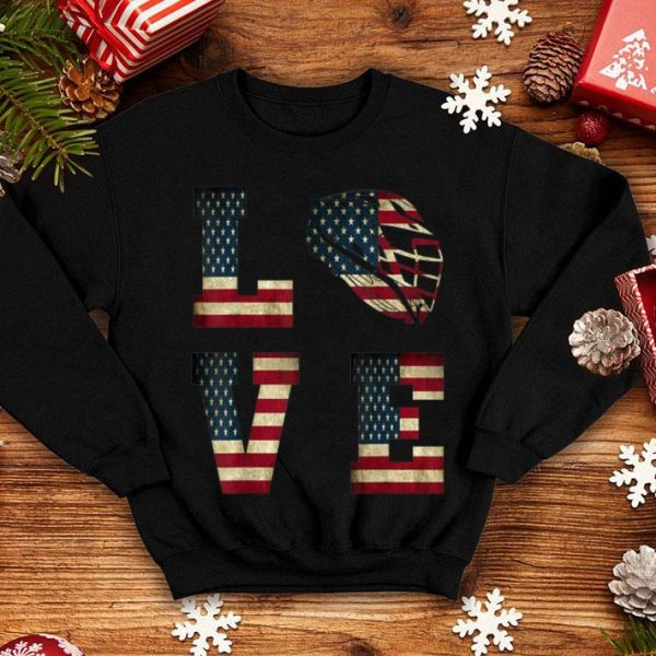 American Flag Lacrosse Love Lax Helmet shirt