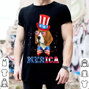American Flag Merica Patriotic Beagle 4th of July shirt