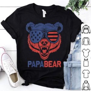 American Flag Papa Bear 4th of July Fathers Day shirt