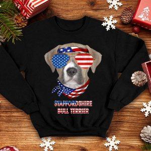 American Flag Staffordshire Bull Terrier Dog shirt