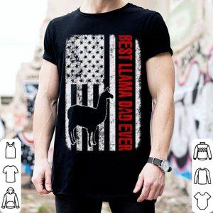 Best Llama Dad Ever American Flag shirt