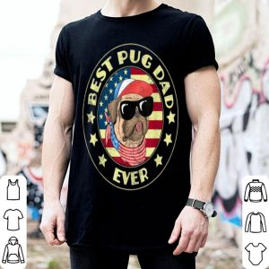 Best Pug Dad American Flag shirt